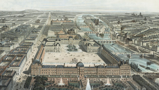Эскиз Дворца Тюильри