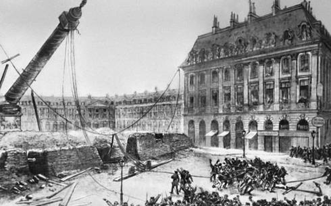 разрушение колонны Вандомской площади
