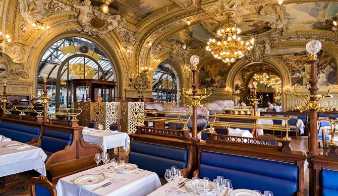 ресторан Le train bleu