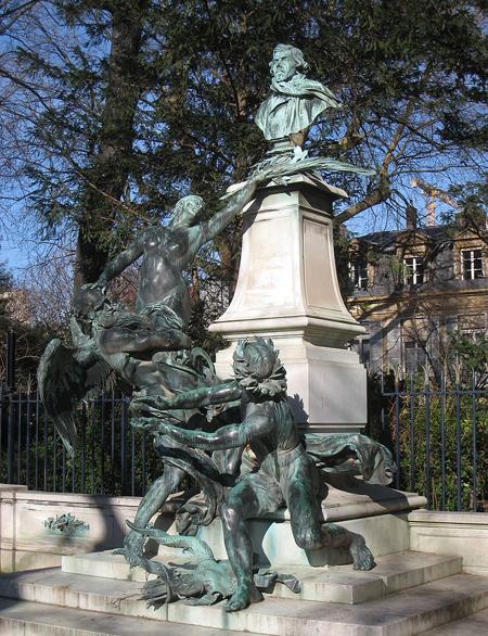 памятник Делакруа