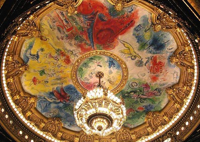 потолок Марка Шагала в Гранд-Опера