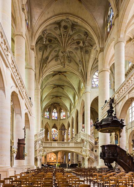 внутреннее убранство Сент-Этье́н-дю-Мон