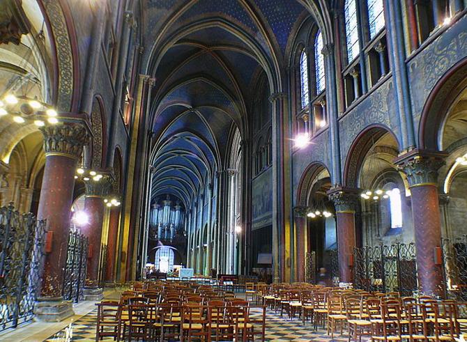 интерьер церкви Сен-Жермен-де-Пре