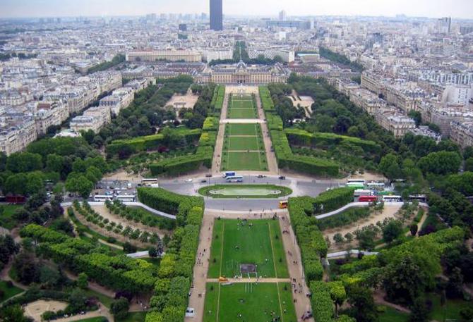 круглая площадь Париж