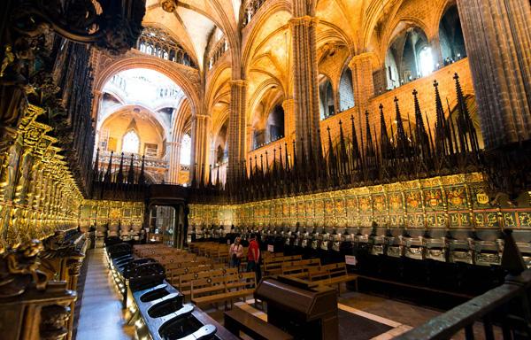 интерьер собора святой Евлалии