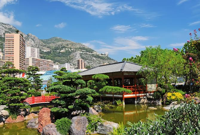 японский садик Монако