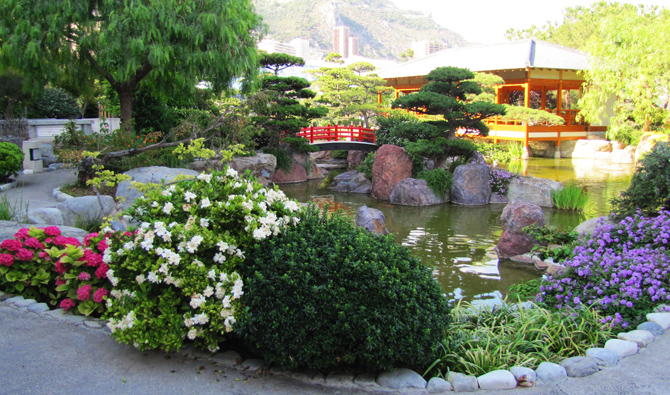 японский сад Монако